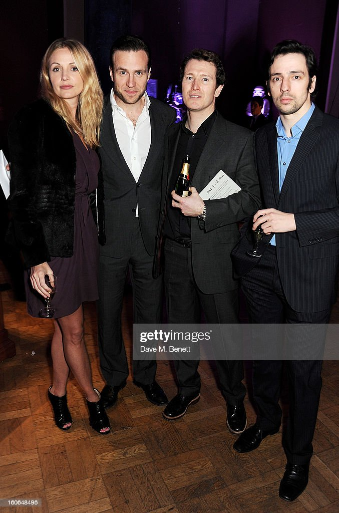 Elize Du Toit Rafe Spall Nick Moran and Ralf Little attend the London Evening Standard British Film Awards supported by Moet Chandon and Chopard at...