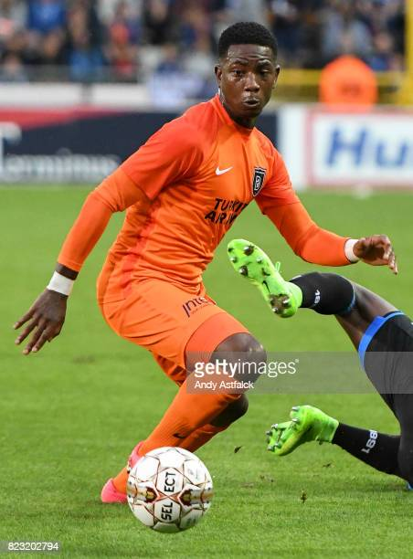Eljero Elia from Istanbul Basaksehir in action during the Champions League Third Round Qualifier First Leg match between Club Brugge and Istanbul...