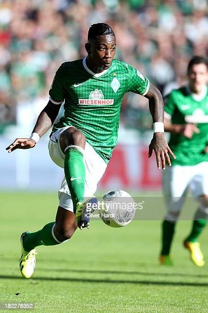 Eljero Elia of Bremen during the First Bundesliga match between SV Werder Bremen and 1FC Nuernberg at Weserstadion on September 29 2013 in Bremen...
