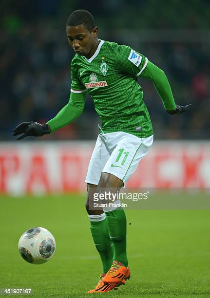 Eljero Elia of Bremen in action during the Bundesliga match between Werder Bremen and 1 FSV Mainz 05 at Weserstadion on November 24 2013 in Bremen...
