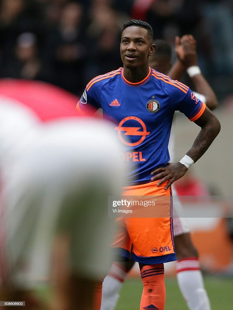 Eljero Elia of Feyenoord during the Dutch Eredivisie match between Ajax Amsterdam and Feyenoord Rotterdam at the Amsterdam Arena on February 07, 2016 in Amsterdam, The Netherlands