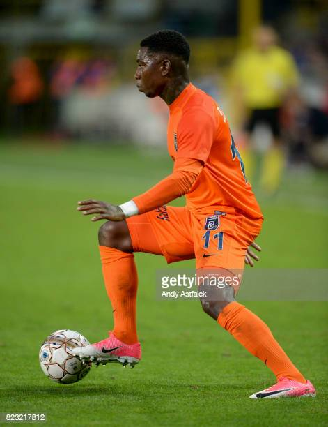 Eljero Elia of Istanbul Basaksehir in action during the Champions League Third Round Qualifier First Leg match between Club Brugge and Istanbul...