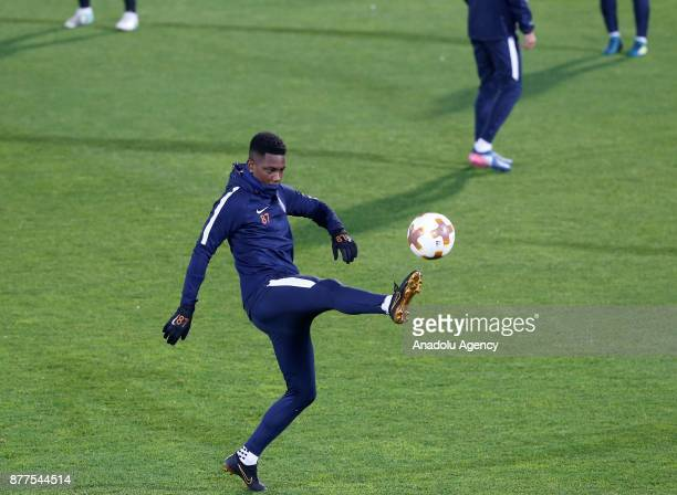 Eljero Elia of Medipol Basaksehir attends the training session ahead of UEFA Europa League Group C soccer match between Ludogorets and Medipol...