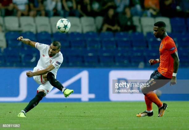 Eljero Elia of Medipol Basaksehir in action during the UEFA Champions League playoff match between Medipol Basaksehir and Sevilla FC at Basaksehir...