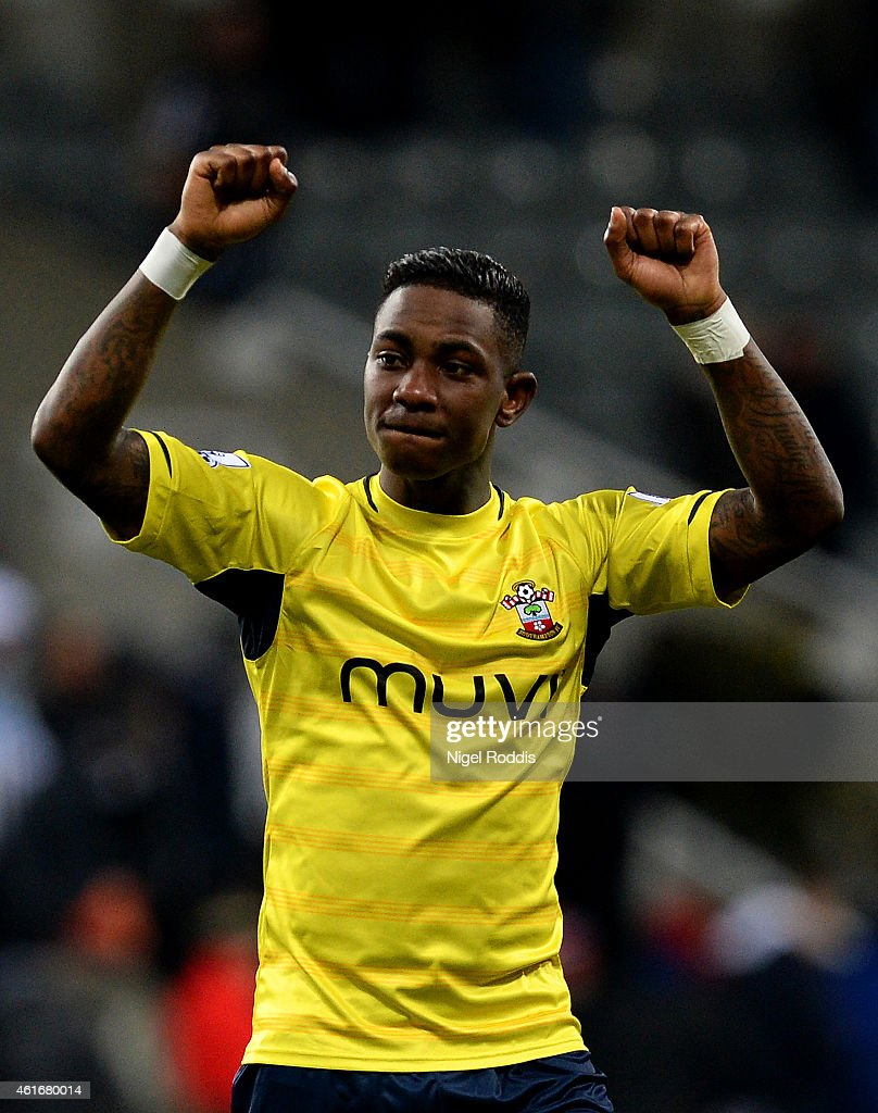 Eljero Elia of Southampton celebrates after the Barclays Premier League match between Newcastle United and Southampton at St James' Park on January 17, 2015 in Newcastle upon Tyne, England.