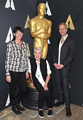 Elka Wardega Lesley Vanderwalt and Damian Martin attend 88th Annual Academy Awards Oscar Week Makeup And Hairstyling Symposium at the Academy of...