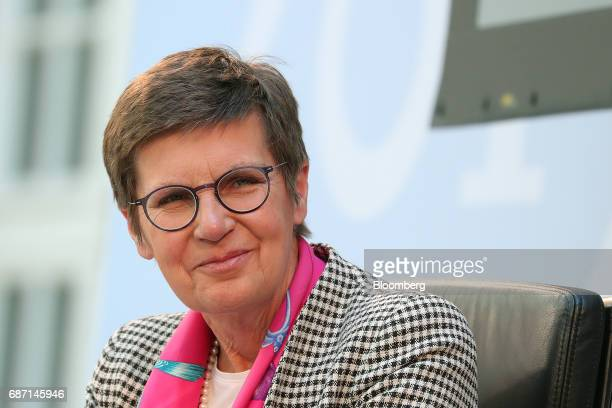 Elke Koenig head of the European Union's Single Resolution Board looks on during a panel discussion at the German Institute for Economic Research in...