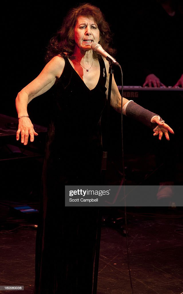 Elkie Brooks performs on stage in concert at His Majesty's Theatre on February 2, 2013 in Aberdeen, Scotland.