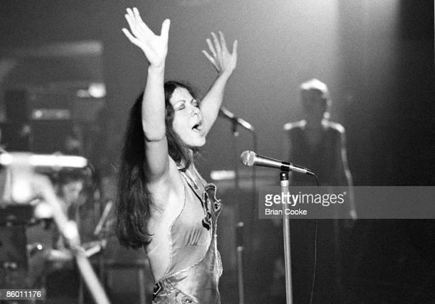 Elkie Brooks performs on stage with Vinegar Joe in Leeds on October 19 1973