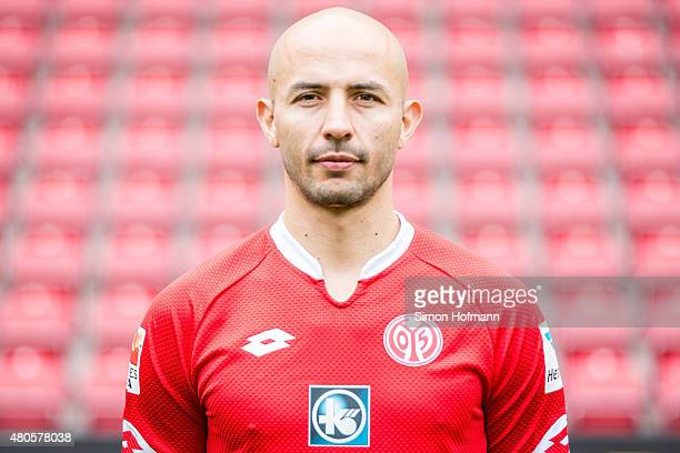 Elkin Soto poses during the 1 FSV Mainz 05 Team Presentation at Coface Arena on July 12 2015 in Mainz Germany