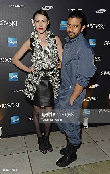 Ella Catliff and Nik Thakkar arrive at the Alexander McQueen Savage Beauty VIP private view at the Victoria and Albert Museum on March 14 2015 in...