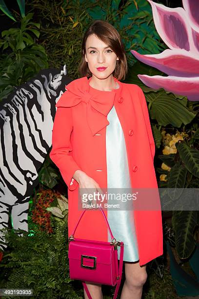 Ella Catliff arrives at Roger Vivier Summer Party at Loulou's on May 22 2014 in London England