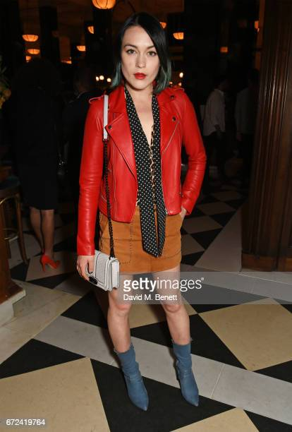 Ella Catliff attends a preopening dinner hosted by Ed Drewett at Malibu Kitchen at The Ned London on April 24 2017 in London England