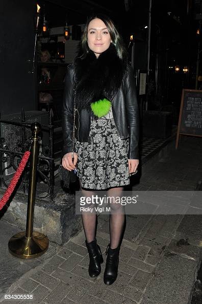 Ella Catliff attends Garnier Ultimate Blends popup launch party on February 8 2017 in London England