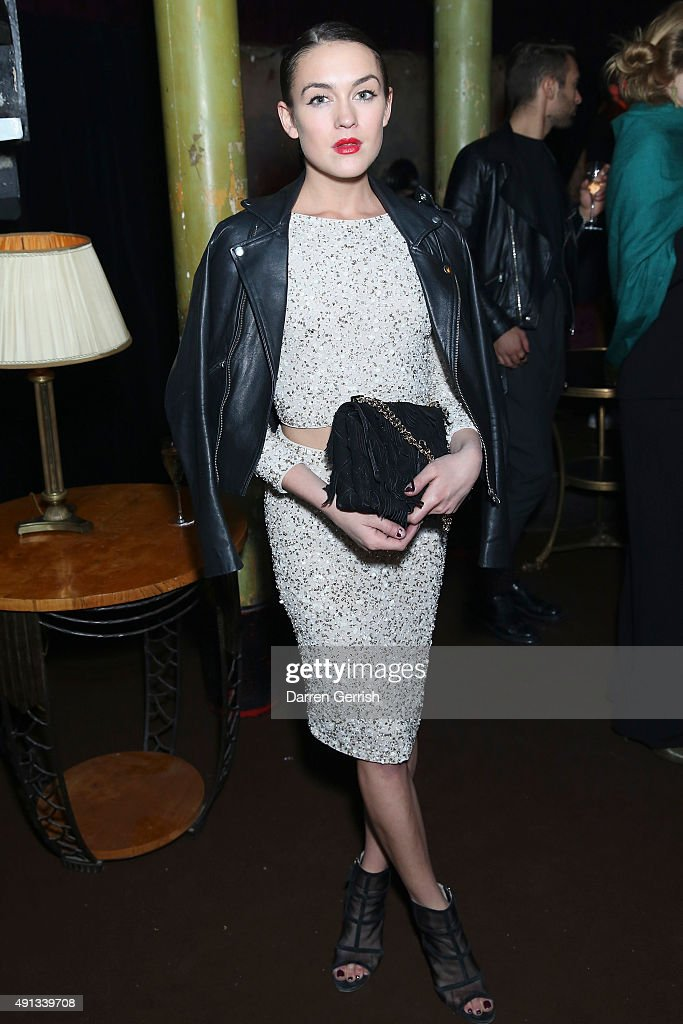 Ella Catliff attends the Alexander McQueen/ AnOther Magazine After Partyas part of the Paris Fashion Week Womenswear Spring/Summer 2016 on October 4...