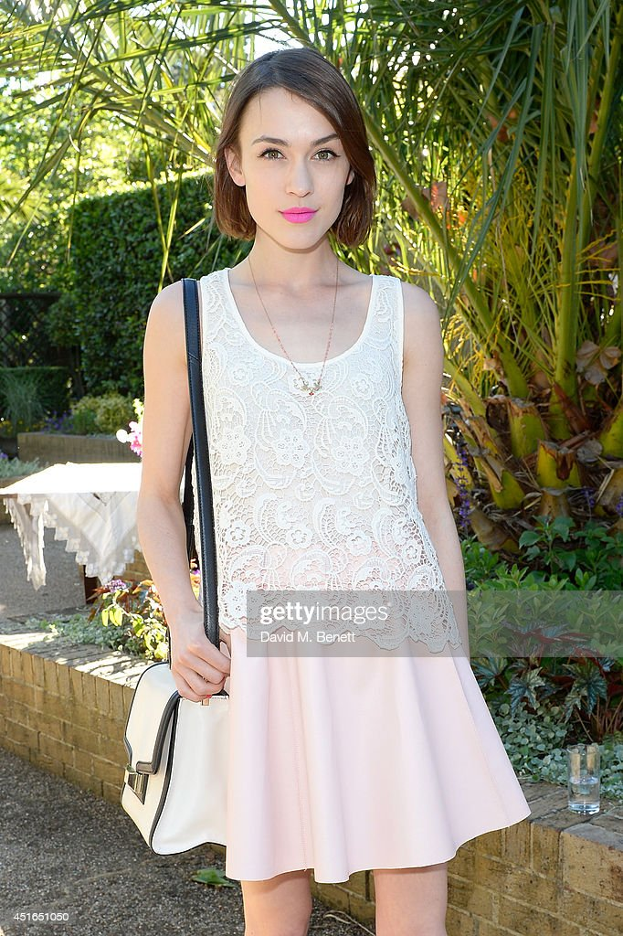 Ella Catliff attends the Club Monaco Garden Party hosted by Quentin Jones, Clara Paget and Annie Morris in Eaton Square on July 3, 2014 in London, England.