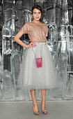 Ella Catliff attends the dinner hosted by Sandra Choi Creative Director of Jimmy Choo to unveil Jimmy Choo's new VICES collection and installation by...