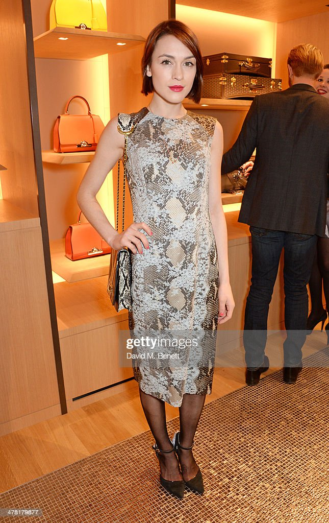 Ella Catliff attends the Moynat London boutique opening on March 12, 2014 in London, England.