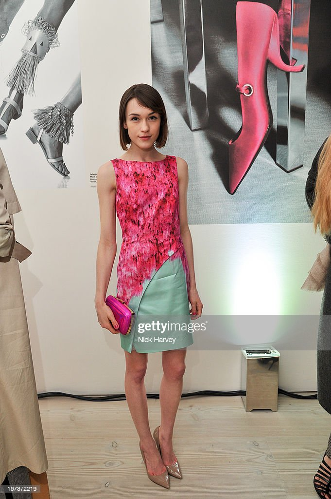 Ella Catliff attends the Roger Vivier book launch party at Saatchi Gallery on April 24, 2013 in London, England.
