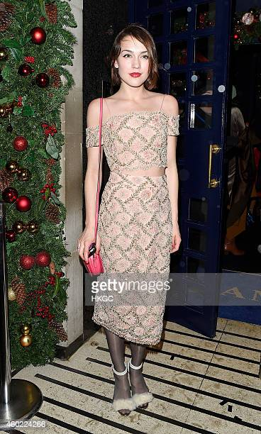 Ella Catliff attends The Sunday Time Christmas Party on December 9 2014 in London England