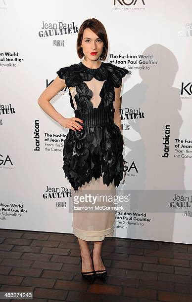 Ella Catliff attends the VIP private view of The Fashion World Of Jean Paul Gaultier at Barbican Art Gallery on April 7 2014 in London England