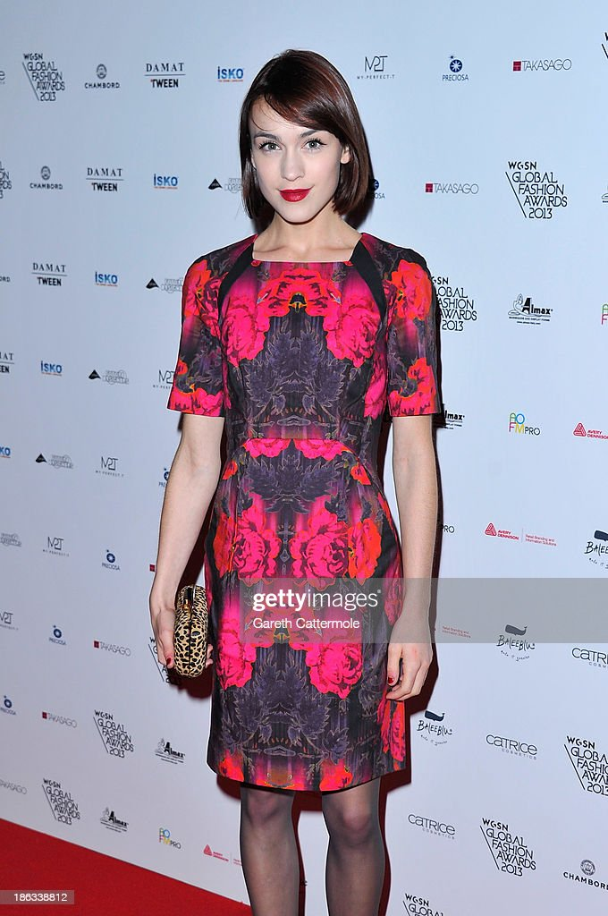 Ella Catliff attends the WGSN Global Fashion awards at Victoria & Albert Museum on October 30, 2013 in London, England.