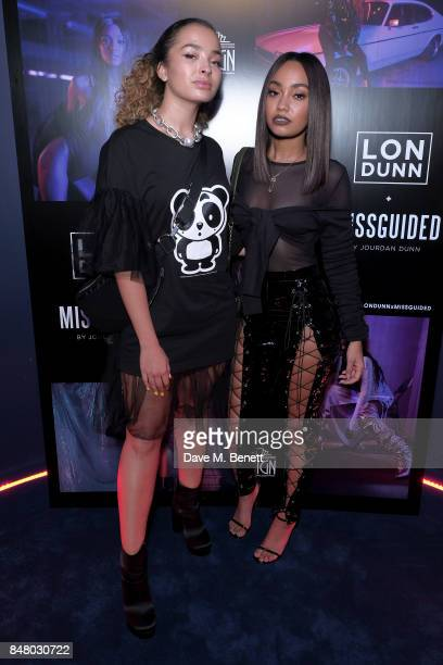 Ella Eyre and LeighAnne Pinnock attend LON DUNN x Missguided Official Launch Party Hosted by Jourdan Dunn at The London Reign on September 16 2017 in...