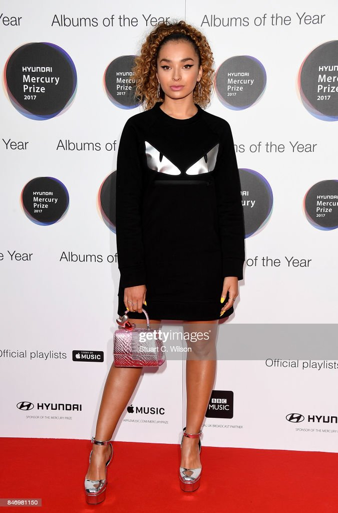 Ella Eyre arrives at the Hyundai Mercury Prize 2017 at Eventim Apollo on September 14, 2017 in London, England.