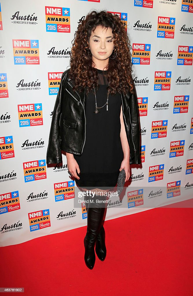 Ella Eyre arrives at the NME Awards at Brixton Academy on February 18 2015 in London England