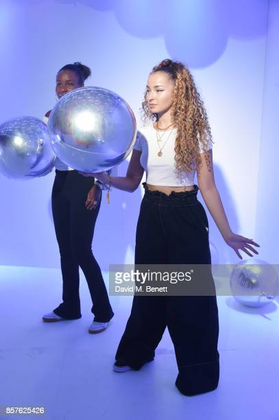 Ella Eyre attends Google's Pixel 2 phone launch at The Old Selfridges Hotel on October 4 2017 in London England