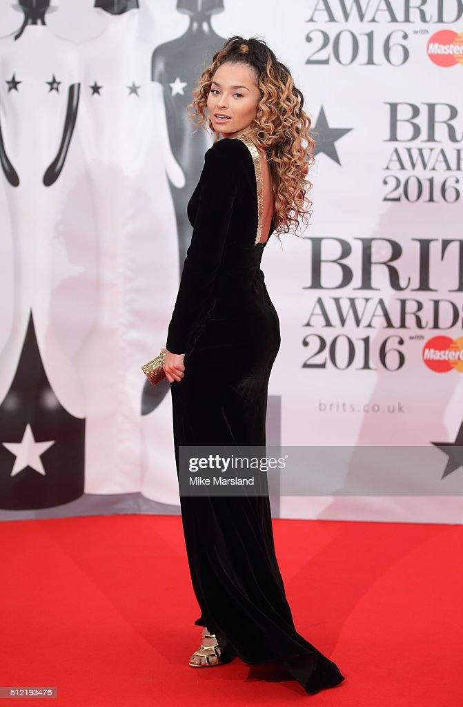 Ella Eyre attends the BRIT Awards 2016 at The O2 Arena on February 24, 2016 in London, England.