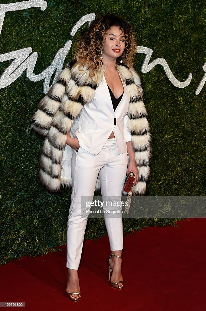 Ella Eyre attends the British Fashion Awards at London Coliseum on December 1, 2014 in London, England.