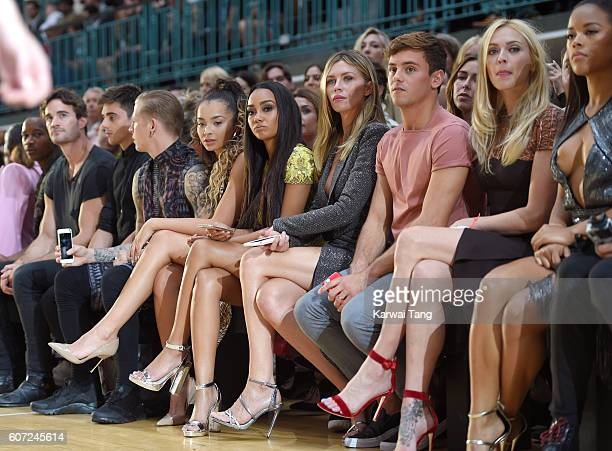 Ella Eyre LeighAnne Pinnock Abbey Clancy Tom Daley and Fearne Cotton attend the Julien MacDonald show during London Fashion Week Spring/Summer...