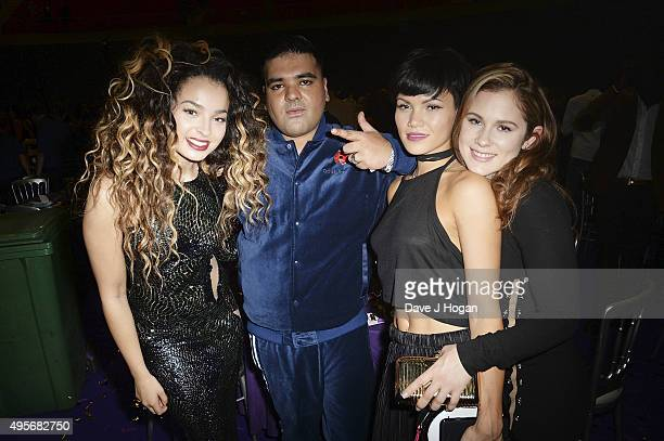 Ella Eyre Naughty Boy Sinead Harnett and Katy B attend the MOBO Awards at First Direct Arena on November 4 2015 in Leeds England