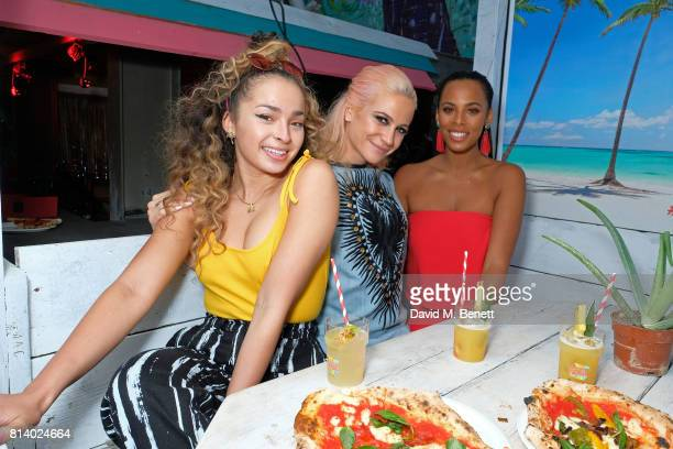 Ella Eyre Pixie Lott and Rochelle Humes pictured at the VIP launch of Just Eat Food Fest Desert Island Dishes in Red Market London The threeday...