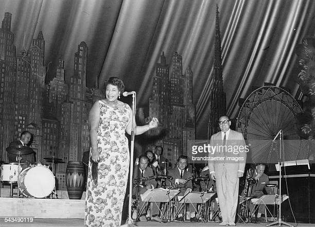 Ella Fitzgerald at a big concert Stadthalle Vienna Photograph Austria Ca 1960