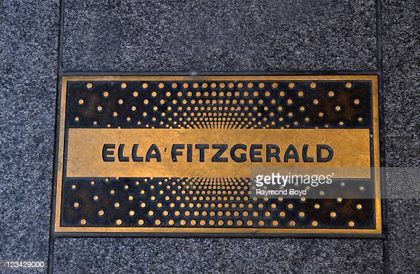 Ella Fitzgerald name plaque on the Apollo 'Walk of Fame' at The Apollo Theater in Harlem New York on AUG 04 2011