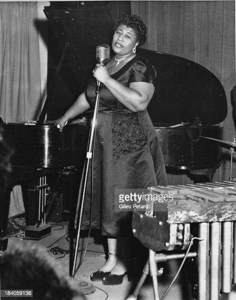 Ella Fitzgerald performs on stage USA 1955