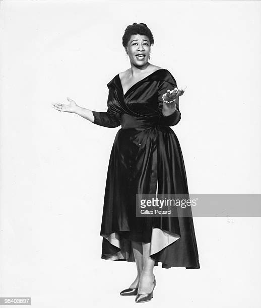 Ella Fitzgerald poses for a portrait in 1955 in the United States