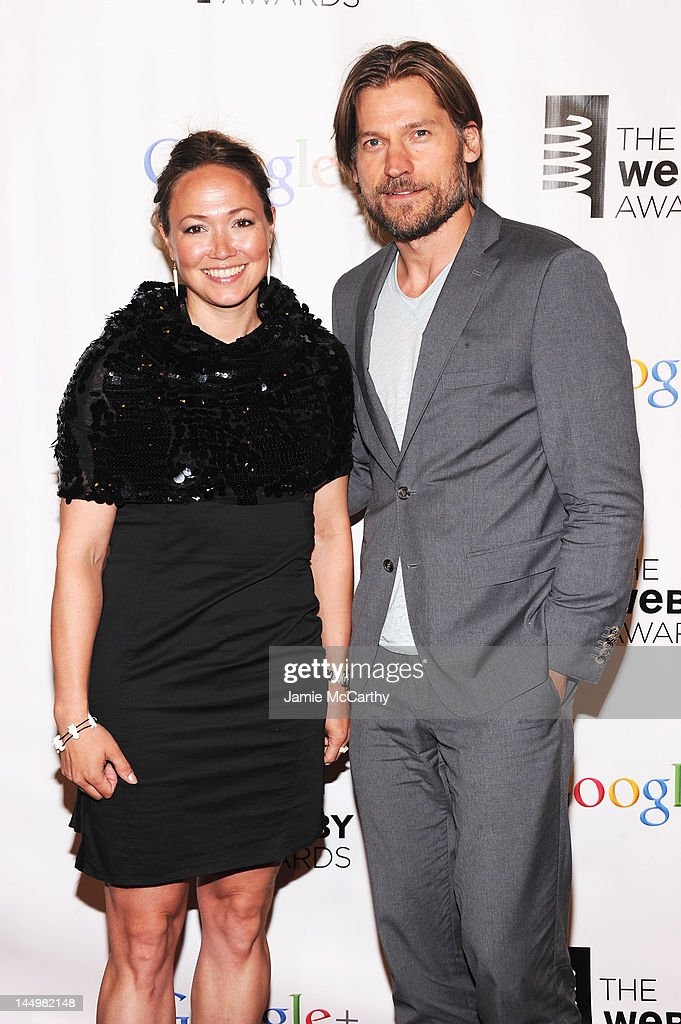 Ella Grodem and actor Nikolaj Coster-Waldau attend the 16th Annual Webby Awards on May 21, 2012 in New York City.
