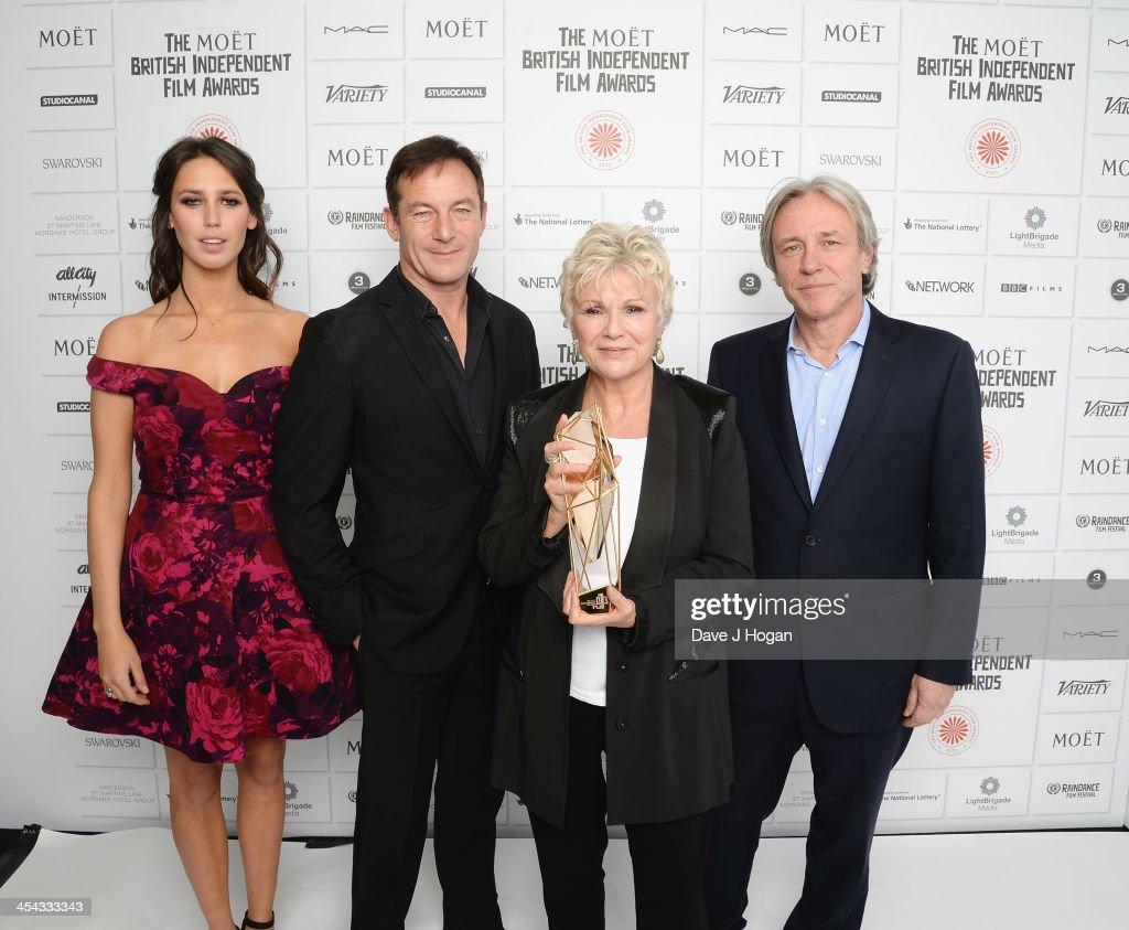 Ella Harris, Jason Isaacs, Julie Walters winner of the Richard Harris Award and Damian Harris attends the Moet British Independent Film Awards 2013 at Old Billingsgate Market on December 8, 2013 in London, England.