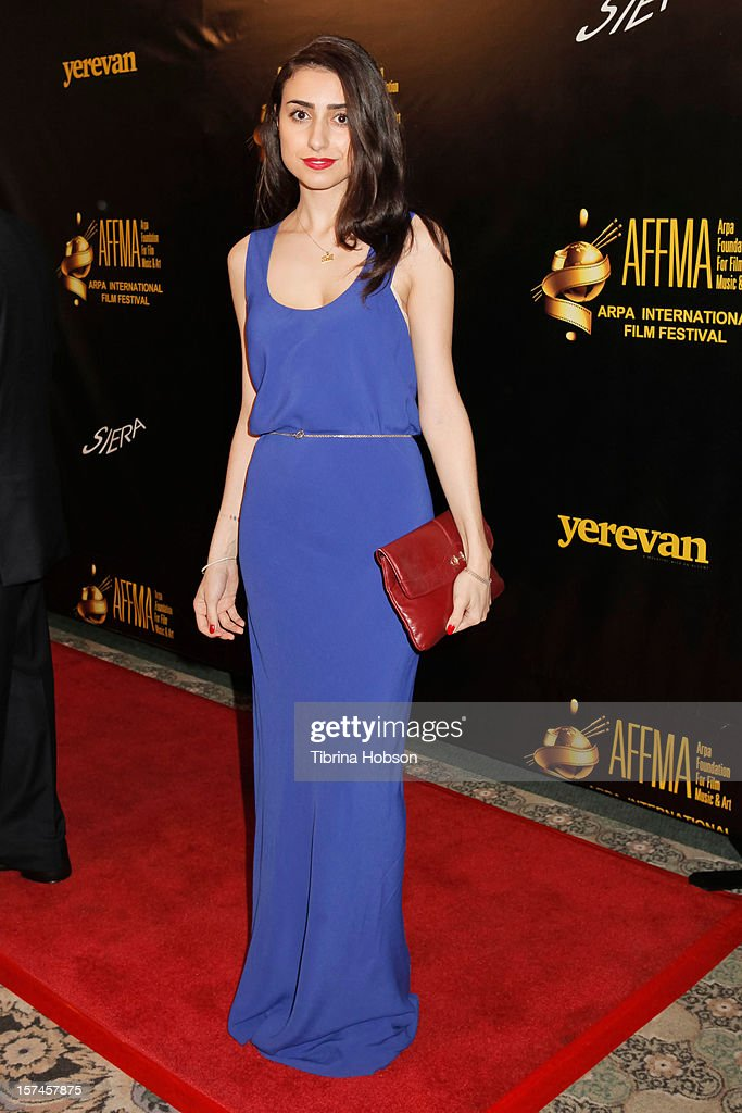Ella Hatamian attends the Arpa International Film Festival closing night gala at Sheraton Hotel on December 2, 2012 in Universal City, California.