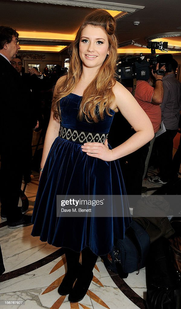 Ella Henderson attends a drinks reception at the Amy Winehouse Foundation Ball held at The Dorchester on November 20, 2012 in London, England.