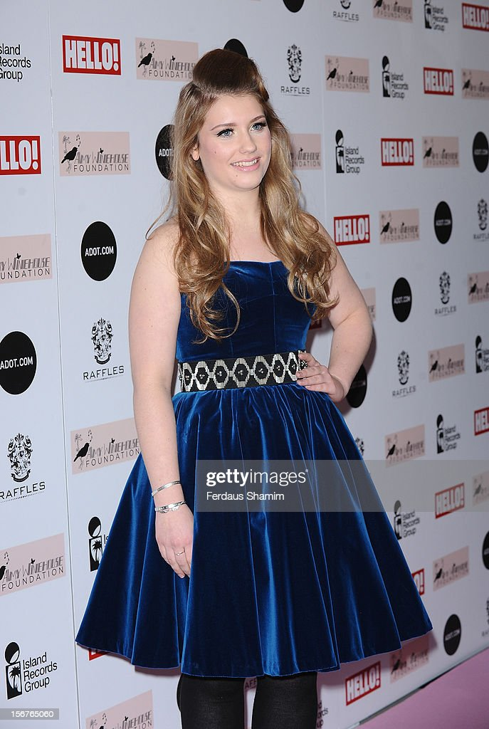 Ella Henderson attends The Amy Winehouse Foundation Ball on November 20, 2012 in London, England.
