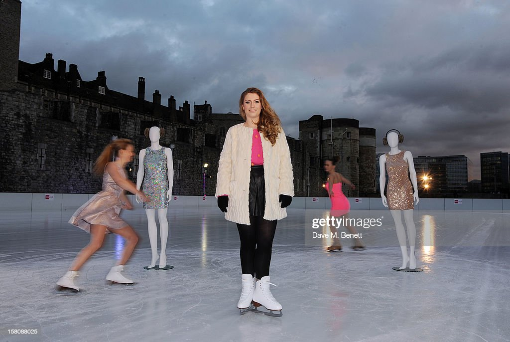 Ella Henderson attends The UK's first Catwalk on Ice from Very.co.uk, held at the Tower of London Ice Rink gave shoppers a more entertaining way to shop for their Christmas outfits this season at Tower of London on December 10, 2012 in London, England.