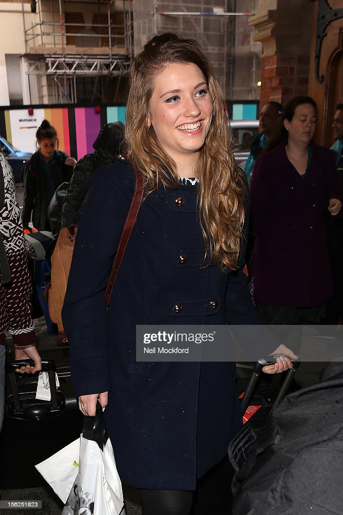Ella Henderson from X Factor 2012 seen at Kings Cross St Pancras Eurostar on November 12, 2012 in London, England.