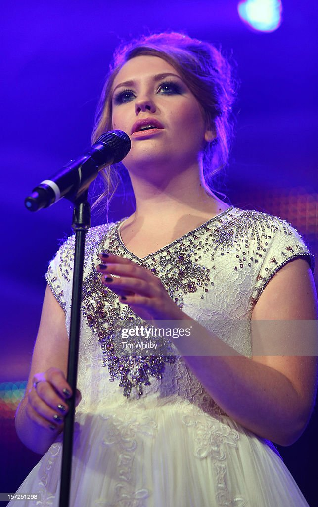 Ella Henderson perfoms at the British Olympic Ball at the Grosvenor Hotel on November 30, 2012 in London, England.