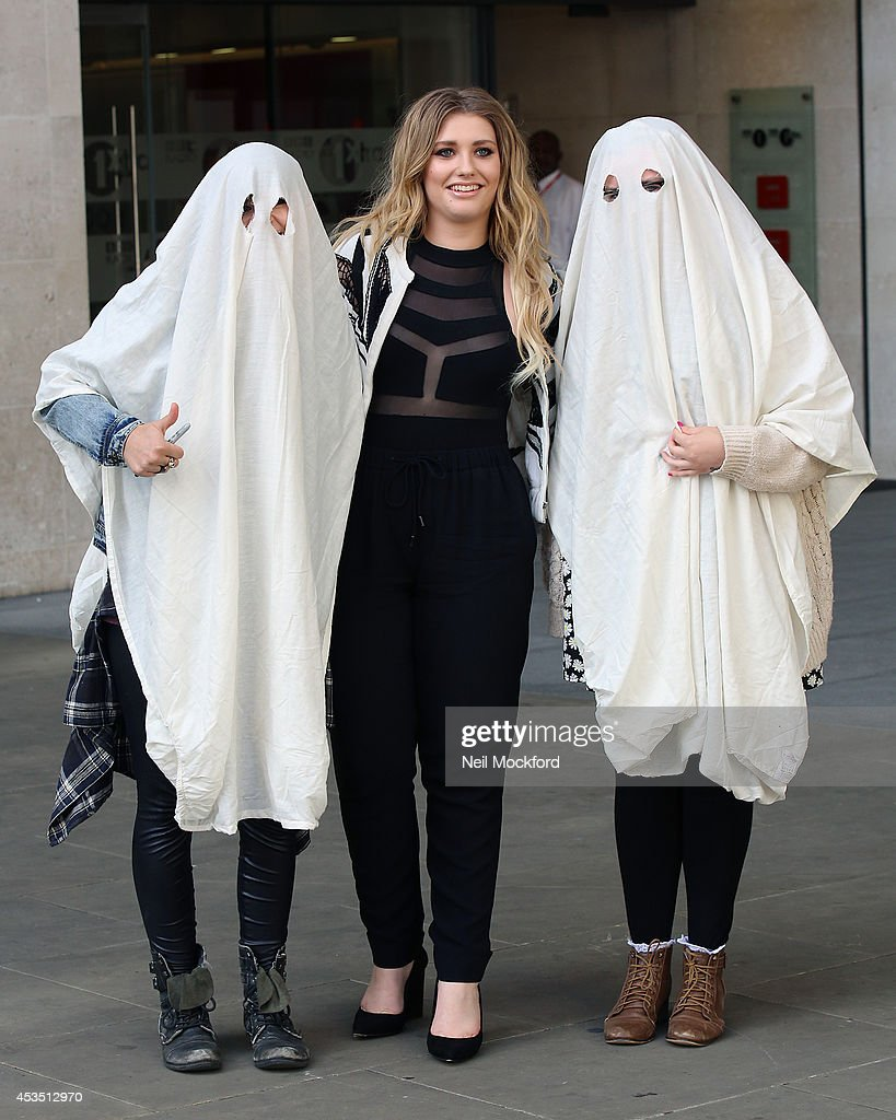 <a gi-track='captionPersonalityLinkClicked' href=/galleries/search?phrase=Ella+Henderson&family=editorial&specificpeople=9648028 ng-click='$event.stopPropagation()'>Ella Henderson</a> seen posing with fans at BBC Radio One on August 12, 2014 in London, England.