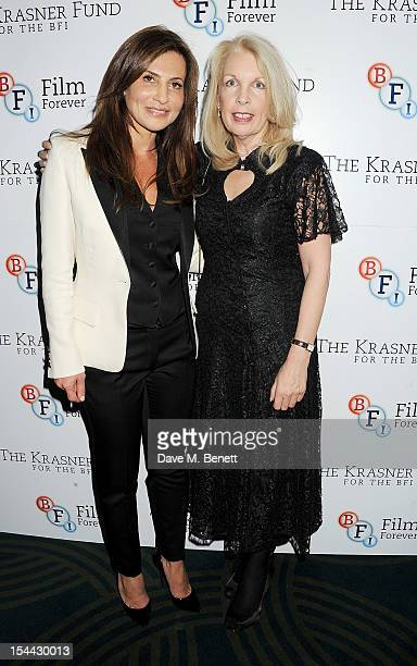 Ella Krasner and Amanda Nevill attend the launch of The Krasner Fund for the BFI at The Ivy on October 19 2012 in London England