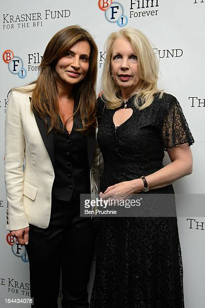 Ella Krasner and Amanda Nevill attends The Krasner Fund party during the 56th BFI London Film Festival at Odeon West End on October 19 2012 in London...
